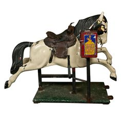 Antique-Vintage Coin Operated Kiddie Mechanical Horse Ride . Circa 1930-1940's