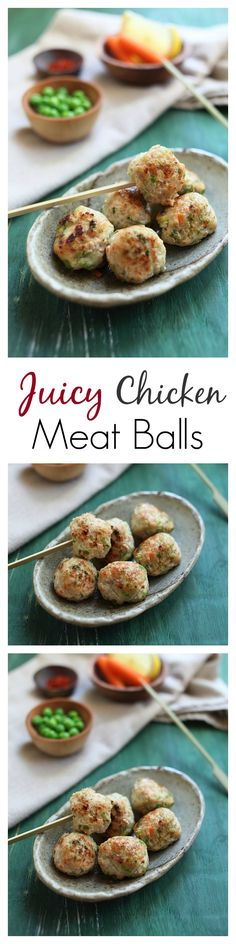 The JUICIEST chicken meatballs ever. Flavor the chicken meat balls with ginger and garlic and you have the best tasting meatballs   rasamalaysia.com