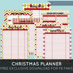 Becoming Martha: Christmas Planner {Free Printable}