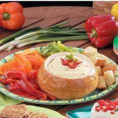 ham, appetizersparti treat, fondu parti, bread bowls, bowl fondu, breads, fondu allrecipescom, fondu recip, fondue recipes