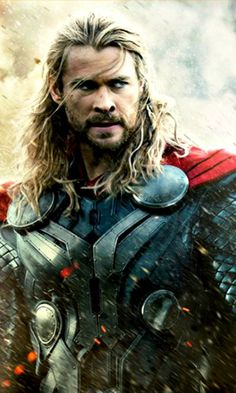 The only time I have ever been a fan of long hair on a guy. Chris Hemsworth aka Thor, God of Thunder and my heart.