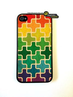 Fancy - Retro Blocks - IPhone 4 Case, IPhone 4s Case, IPhone 4 Hard Case
