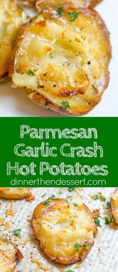Parmesan Garlic Crash Hot Potatoes are crispy, creamy, cheesy and garlicky. Made???