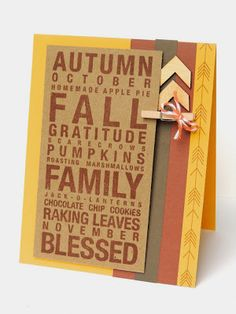 It's Fall! {Close To My Heart}
