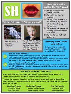 Ms. B the SLP: Articulation Handouts