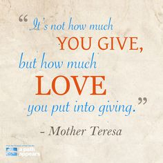 What will you give today?