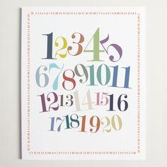 "Number Border Print 11x14""  by Ryan Beshara"