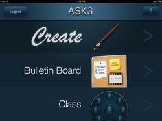 Ask3 is a tool that teachers can use to create short instructional videos that are shared directly to their students' iPads. Students can use Ask3 to ask questions about the video, mark the video with drawing tools, and create their own audio comments about the video.