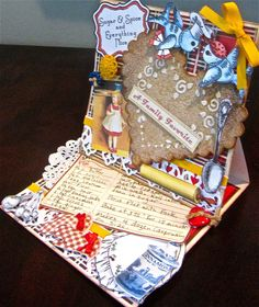 Fabulous 3D easel 'Cookie Card' by Elizabeth Lincoln using a mix of Crafty Secrets Kitchen Classics, Sweet Stuff and Cooking Printable sheet. She has a great tutorial explaining how she created it including making the big sugar cookie using 2 scallop Spellbinder Heart Dies.