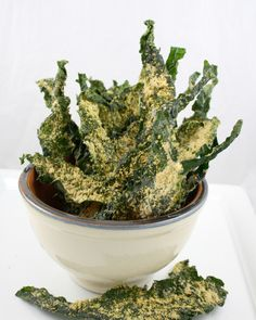 Raw Food Recipes - Kale Parmesan Chips