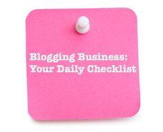 blog business checklist