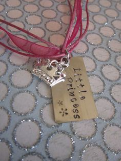 Little Princess Hand Stamped Necklace by girlinair on Etsy, $12.00