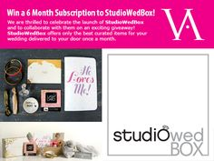 Attention Brides-to-be! We are extremely thrilled to host this exciting giveaway from Studiowedbox for the month of August! Click the link below for instructions on how to enter. If you are a WEDDING PROFESSIONAL, please re-pin this giveaway on your page so that your brides can participate! #giveaway #contest #wedding #engaged #engagement #bride #gift #subscription http://ow.ly/nHY2Y