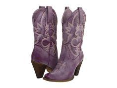 purple cowboy boots.