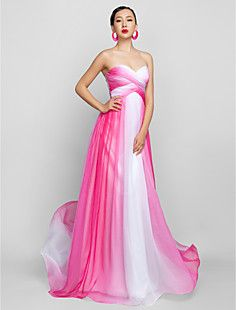 Free Measurements ! A-line Sweetheart Floor-length Chiffon Evening/Prom Dress (759955)