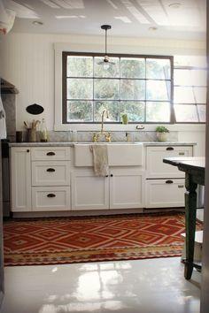kitchen + rug + windows