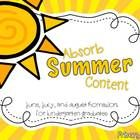 With the end of the school year quickly upon us, I know parents are preparing for their child's summer activities.  Kindergarten class has worked v...
