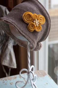 Upcycled Sweater hat ear warmer in Grey and by lindseymariephoto, $32.00