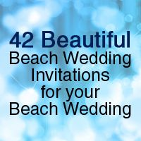 42 Beautiful Beach Wedding Invitations for your Beach Wedding, Printable