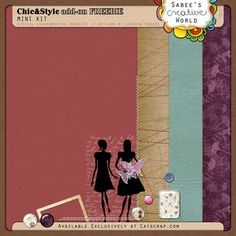 Chic & Style tiny kit #freebie from Sabee's Creative World #scrapbook #digiscrap #scrapbooking #digifree #scrap