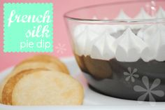 French Silk Pie Dip at http://www.somethingswanky.com