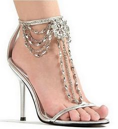 Love jeweled sandals, gorgeous for a wedding!