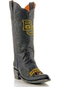 Stylin' black #Baylor cowboy boots #SicEm (available at Baylor Bookstore)