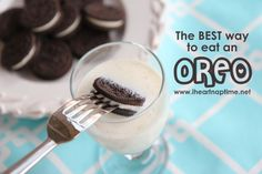 the only way to eat an oreo...
