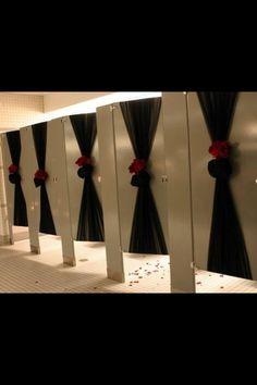 Bathroom stall decorations