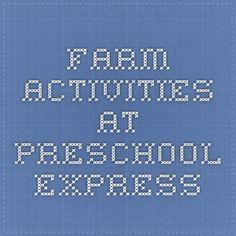 farm activities at Preschool express