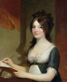 """""""Portrait of a Young Woman,"""" by Gilbert Stuart    1802-04"""