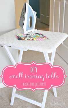 Turn a TV table into a foldable ironing table!