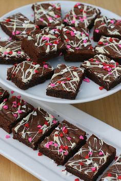Mexican Chocolate Valentine's Brownies by Food Librarian. A delicious recipe for brownies that looks as good as it tastes. A Valentine's Day treat winner right here.