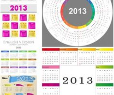 Different 2013 calendar templates vector