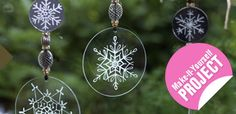 Engraving glass ornaments with your #Dremel tool not only makes for beautiful #holiday decorations, they also make a wonderful #DIY gift for family and friends.    http://www.crafts-beautiful.com/index.php/project/engrave_glass_christmas_decorations_with_dremel/