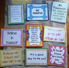 Elementary School Counseling ideas and materials...    Site contains printables of signs/words