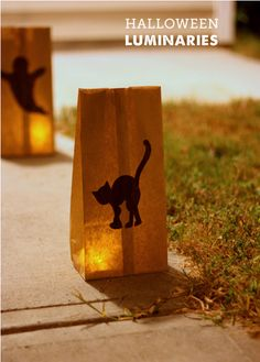 Paper Bag Luminaries for Halloween from Modern Parents Messy Kids