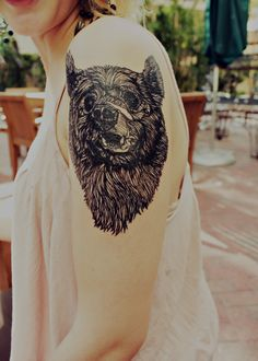shoulder bear tattoo