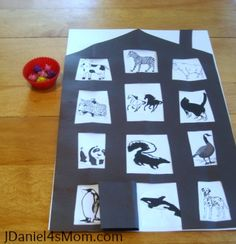 Movement Activity using animals from the book P.Bear's New Year's Eve Party