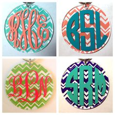 Chevron Keychain with Monogram - Lots of Colors and Monogram Styles - Bridesmaid Newlywed Teacher Big Little Sorority Sister Mom