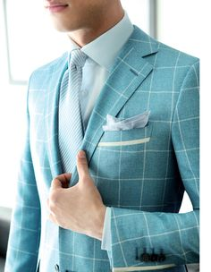 windowpane sea foam // Ravazzolo . FW 2014