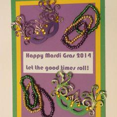 Spellbinders Venetian Accents Mardi Gras Card!