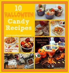 Here are 10 of the best Halloween Candy Recipes that you can make to celebrate Halloween or  make them as an excuse to use up some of the Halloween candy your kids bring home from trick or treating.