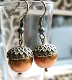 Acorn inspired earrings