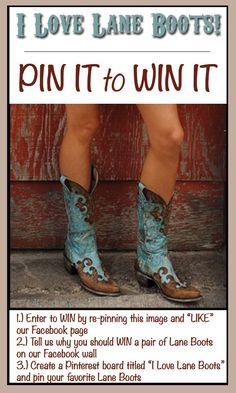 Lane Boots Contest