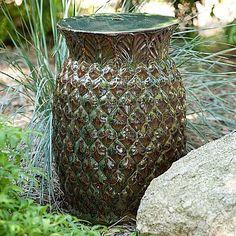 Pineapple decor furnishings on pinterest seaside home for Pineapple outdoor decor