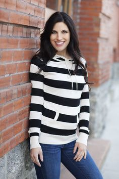 It's Cool Outside, Might As Well Look Cool Too - Striped Hoodies #strippedhoodies pickyourplum.com