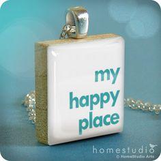 Scrabble tile charm..how cute!