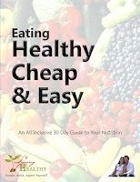 Eating Healthy, Cheap,  Easy:   An All Inclusive 30 Day Guide To Your Nutrition    This book contains:        The Basics: Tips on buying and cooking basic meals.       Our Menus: Four weeks of healthy, quick and easy, family friendly menus. Planning is the key to nutritional success.       Recipes: 31 healthy dinner recipes Snacks: 90+ healthy low-calorie snack ideas. Three super yummy bonus snack recipes.  Get your Free copy here... food