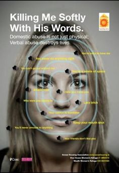 Killing Me Softly With His Words - Domestic Violence Is Not Just Physical; Verbal Abuse Destroys Lives.  #Stop #Domestic #Violence